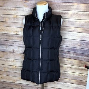 GAP nylon down filled puffy black vest-Sz M
